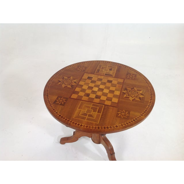 Antique Dutch Marquetry Tea Table - Image 4 of 8