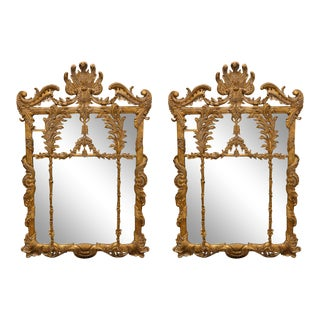 LaBarge Baroque Giltwood Mirrors - a Pair For Sale