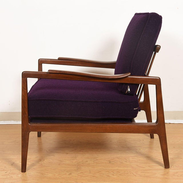 Edmond Spence Mid-Century Modern Walnut Club Chairs - a Pair For Sale - Image 10 of 13