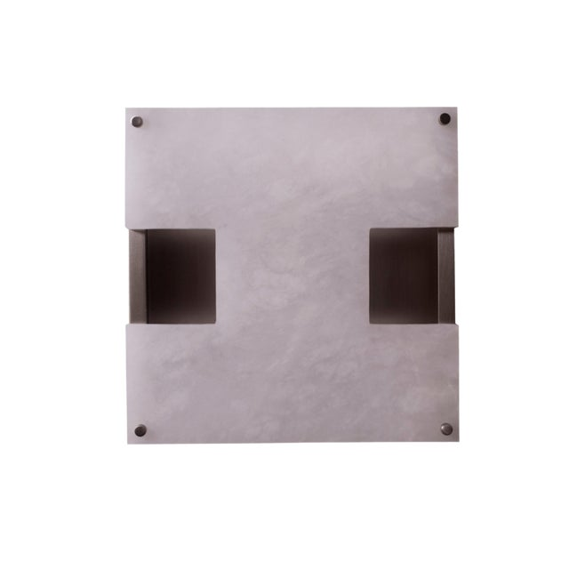 Modern Contemporary 002a Sconce in Nickel and Alabaster by Orphan Work For Sale