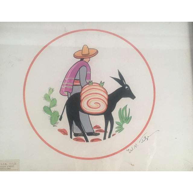 Orange Walter Karl Titze Drawing for a Dinner Plate For Sale - Image 8 of 10