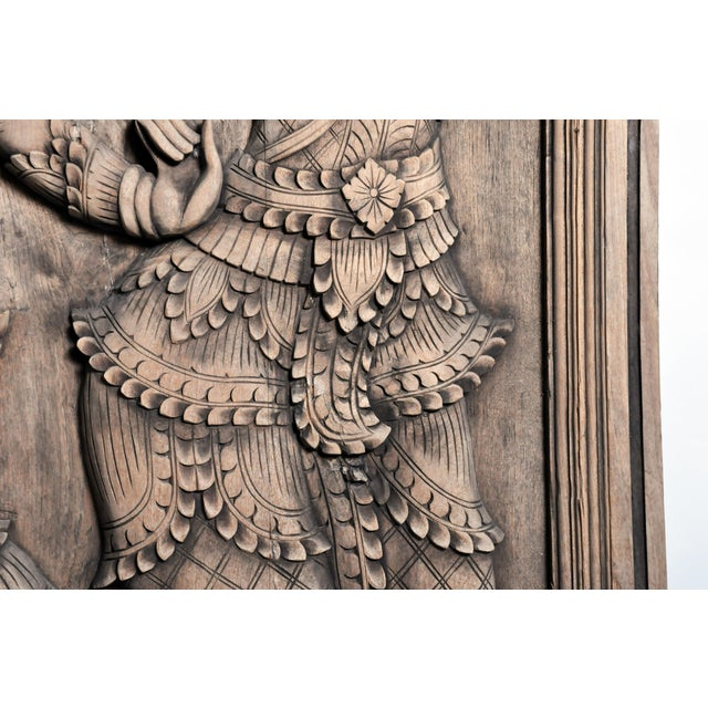Southeast Asian Wood Carving of a Goddess For Sale - Image 9 of 13