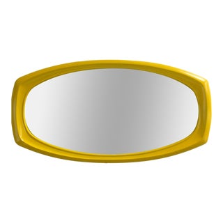 Mod Mid-Century Chrome Yellow Mod Mirror For Sale