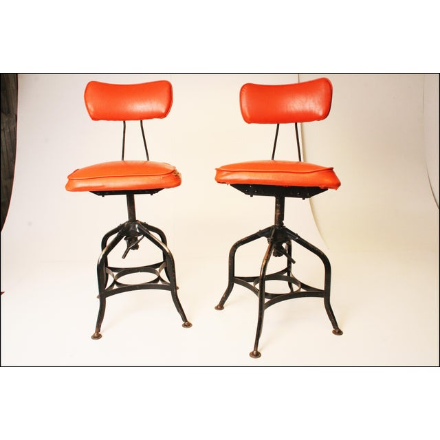 Vintage Industrial Toledo Drafting Stools - A Pair - Image 2 of 11
