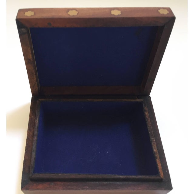 Anglo-Raj Wood and Brass Box With Hand-Painted Scene For Sale - Image 9 of 10