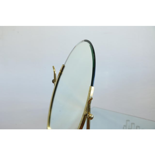 Wishbone Vanity Mirror by Charles Hollis Jones For Sale In Los Angeles - Image 6 of 12