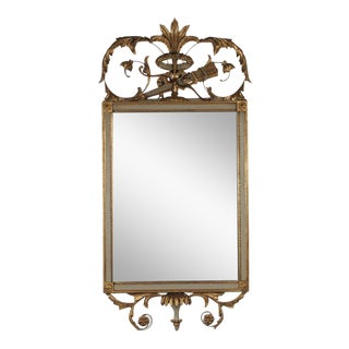 Friedman Brothers French Style Gold Gilt and Painted Decorative Mirror For Sale