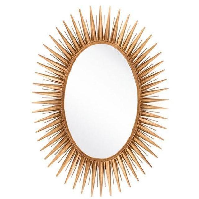 Glam Gold Metal Sunburst Mirror - Image 1 of 3