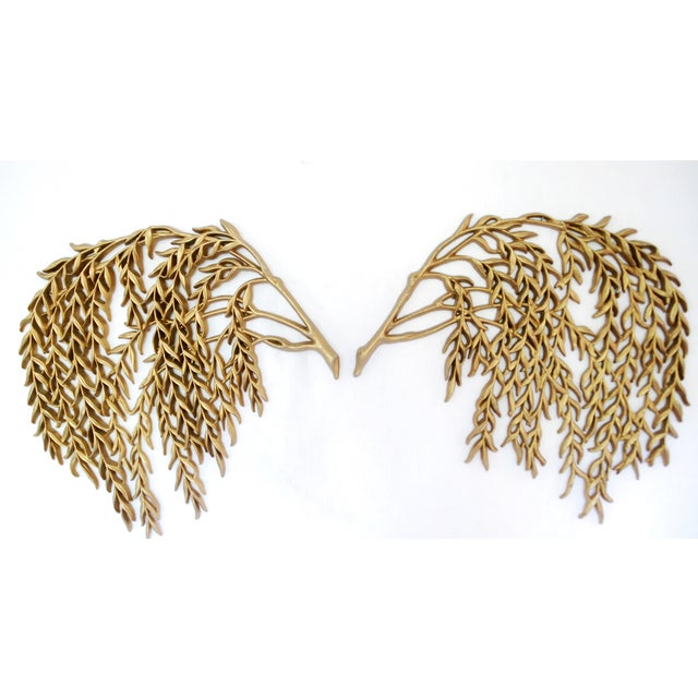 Vintage Burwood Weeping Willow Wall Decor - Pair - Image 2 of 4