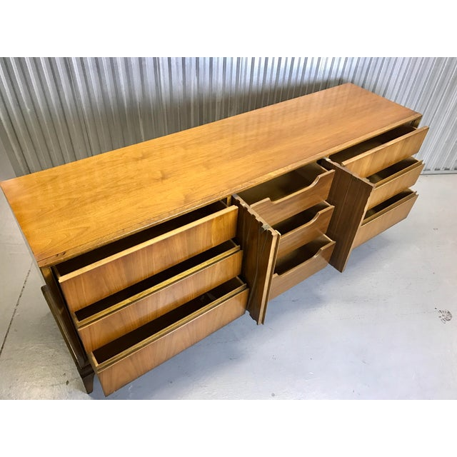 Mid-Century Nine Drawer Dresser - Image 6 of 11