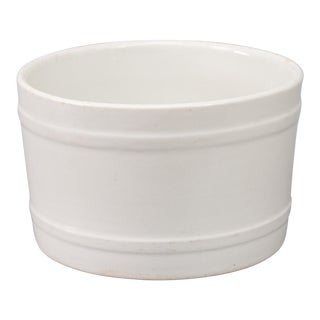 19th Century English White Ironstone Planter For Sale