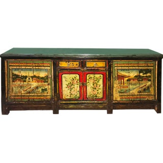 Stunning Large Mongolian Cabinet (Rare Find) For Sale