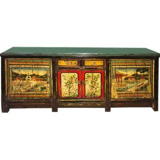 Vintage Large Asian Cabinet Sideboard
