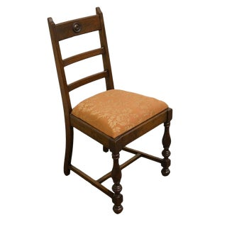 1940's Antique Solid Walnut Dining / Side Chair For Sale