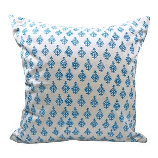 Indian Block Print Desiree 20x20 Pillow Cover For Sale
