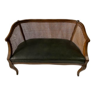 Italian Caned Settee For Sale