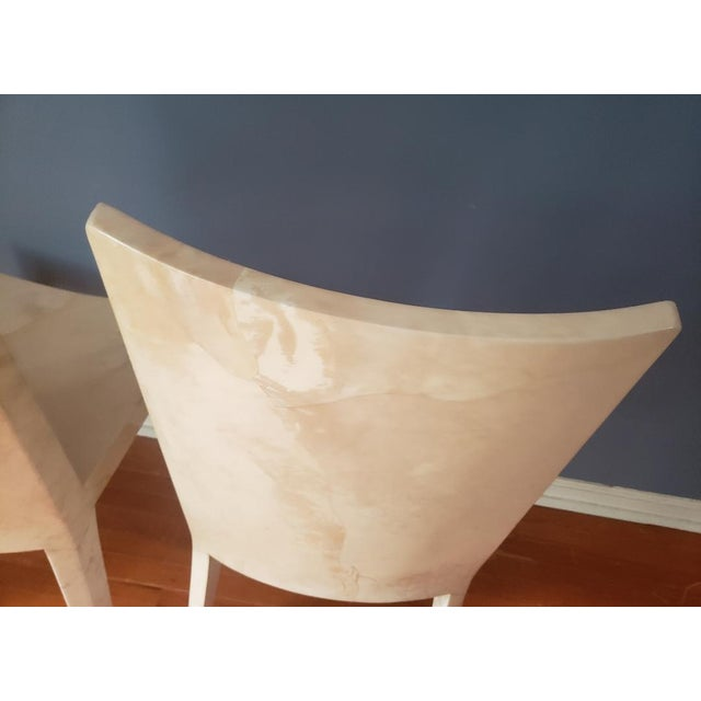 1980s Vintage Karl Springer Jmf Chairs- A Pair For Sale - Image 12 of 13