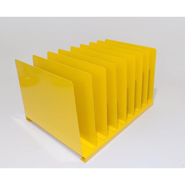Metal Yellow Metal Office File/Organizer For Sale - Image 7 of 7