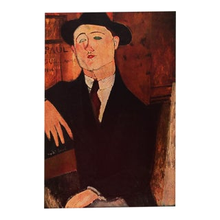 1958 A. Modigliani First Edition Lithograph After Portrait of Paul Guillaume For Sale