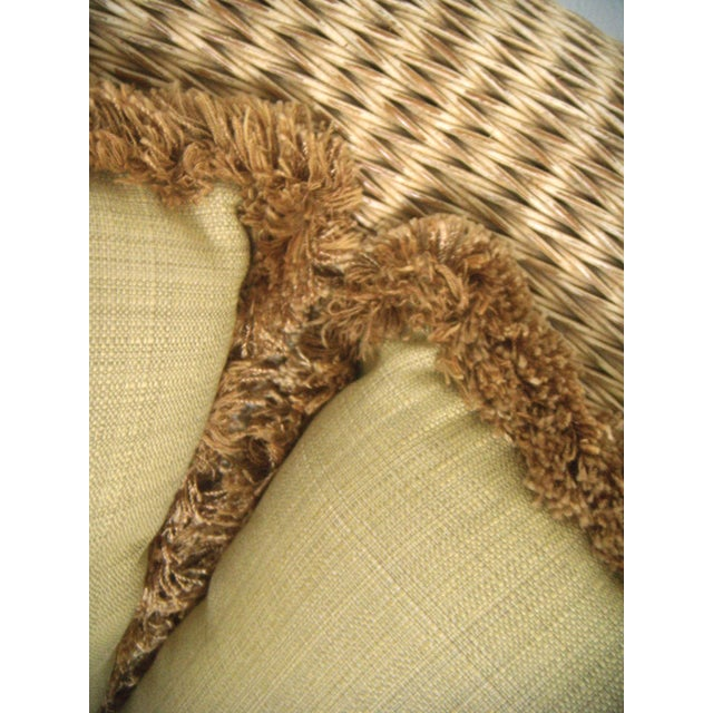 Oversized Wicker Armchairs & Ottoman - A Pair - Image 8 of 8