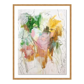 Lilly by Leslie Weaver in White Framed Paper, XS Art Print For Sale