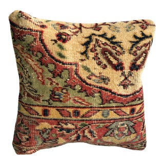 Vintage Turkish Anatolian Decorative Rug Pillow Case For Sale