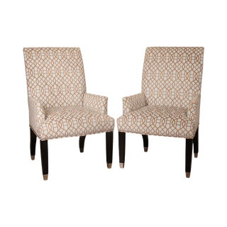 Mitchell Gold + Bob Williams Pair Host Armchairs For Sale