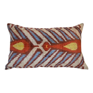 Jamila Silk Velvet Ikat Pillow