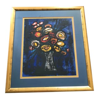 Original Mid-Century Oil on Paper by Maximillian Vas - Abstract Still Life - Signed and Framed For Sale