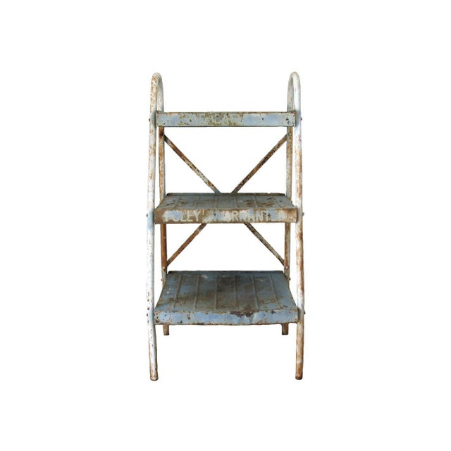 Antique Industrial Metal Shelves - Image 1 of 5