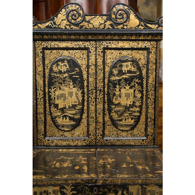 19th Century English Queen Anne Chinoiserie Chest on Stand - Image 7 of 10