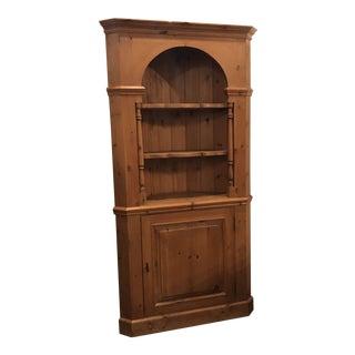 Vintage English Corner Cabinet For Sale