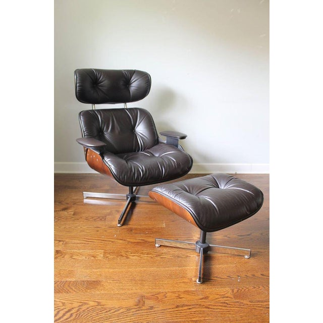 Plycraft Mid-Century Lounge Chair & Ottoman - Image 2 of 10