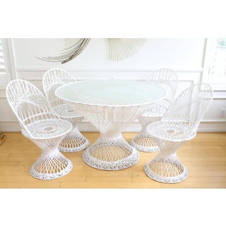 Mid-Century Modern Lacquered White Russell Woodard Patio Set Preview