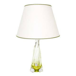 Val St. Lambert Yellow Table Lamp For Sale