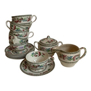 Johnson Brothers Indian Tree Tea & Coffee Set - 16 Pieces For Sale