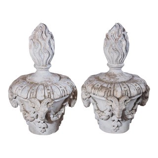 Pair of Antique French Composite Finials