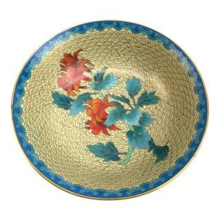Cloisonné & Brass Bowl For Sale