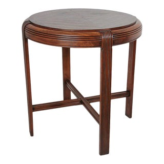 French Art Deco Round Side Table For Sale