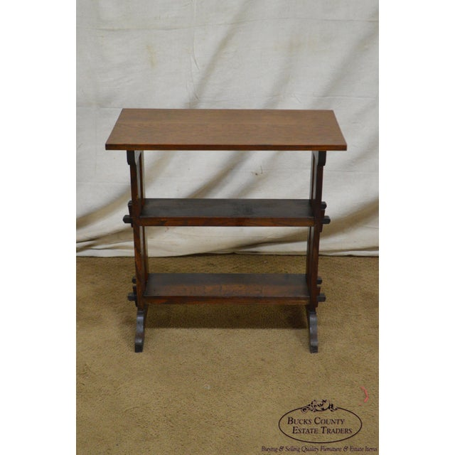"""Brown Roycroft """"The Roycrofters"""" Arts & Crafts Mission Oak Little Journeys Book Stand For Sale - Image 8 of 13"""