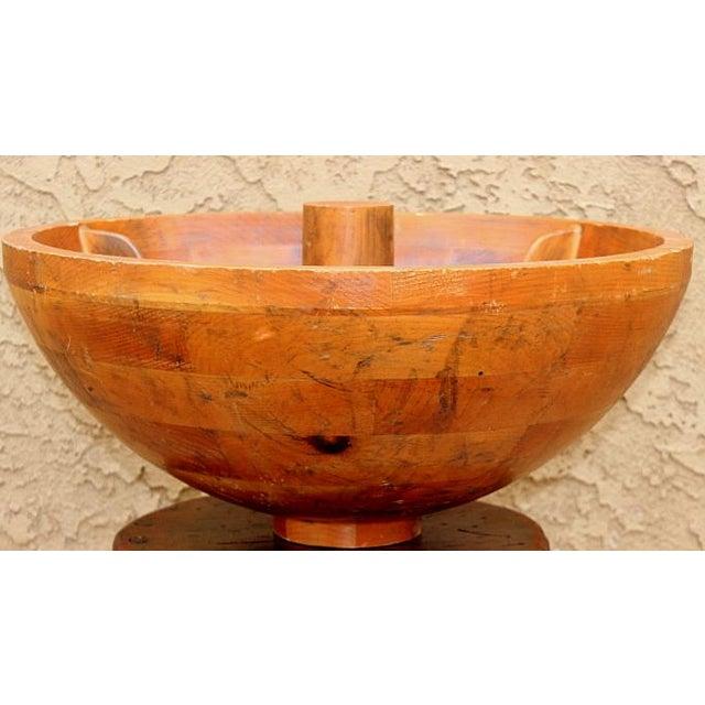 Decorative Craftsman Wood Bowl - Image 2 of 4