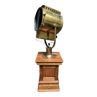Massive WWII Searchlight by Carlisle & Finch