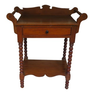 1900s American Classical Oak Washstand For Sale