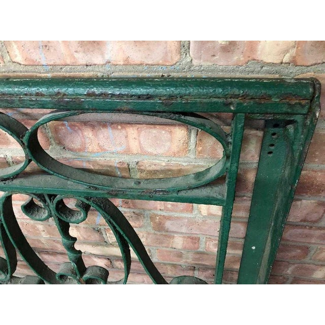 Late 19th Century Decorative Wrought Iron Balustrade/Railing For Sale In Chicago - Image 6 of 8