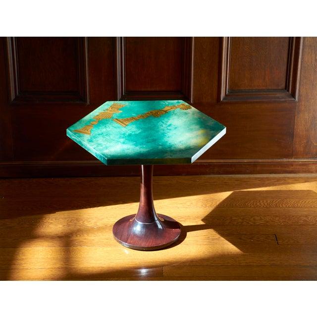 1950's Aldo Tura Hexagonal Side Table For Sale In Detroit - Image 6 of 11