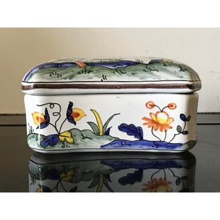 Hand Painted Chinoiserie Porcelain Box for Tiffany Preview