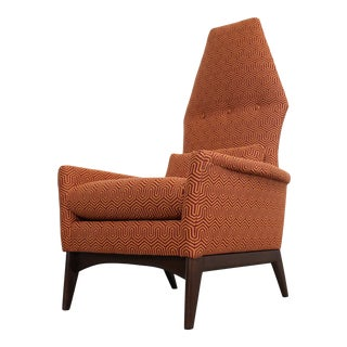 "Adrian Pearsall High Back Lounge/ Accent Chair Crypton ""Mambo Jive"" For Sale"