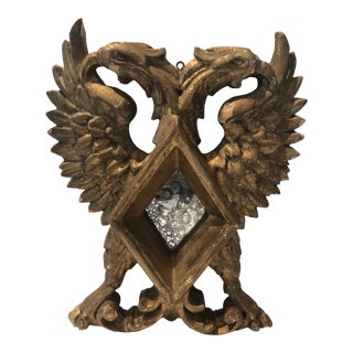 Antique Late 19th Century Giltwood Mirror With Griffins For Sale