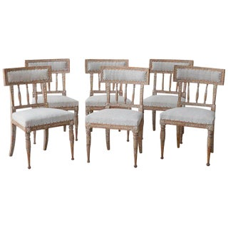 19th Century Swedish Gustavian Period Chairs in Original Paint - Set of 6 For Sale