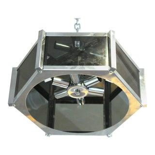 Fredrick Ramond Modern Hexagonal Pendant Chandelier For Sale